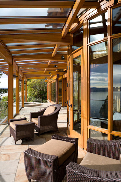 Eclectic Porch by Roberts Wygal