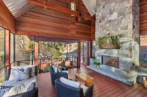 Rustic Porch by LS3P | Neal Prince Studio