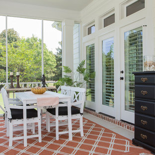 Cottage chic porch photo in Charleston