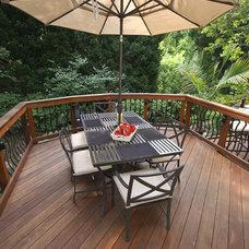 Traditional Porch by Fine Decks Inc
