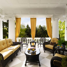Traditional Porch by Sarah Hermans with Decorating Den Interiors