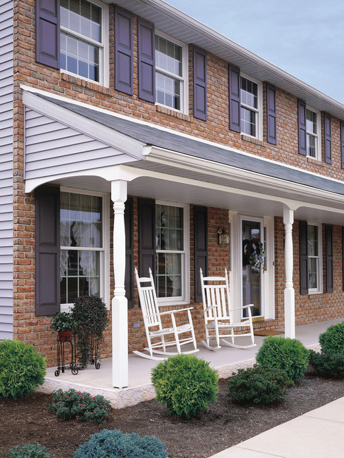 Colonial front porch houzz for Colonial porch columns