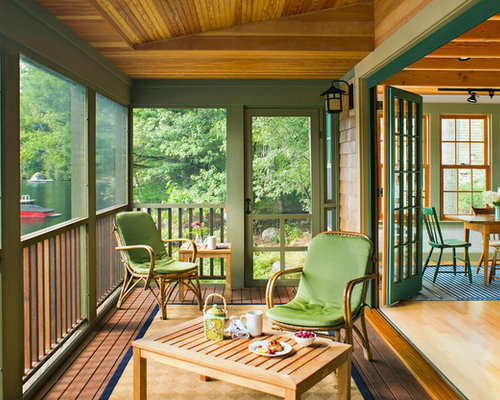 houzz small screened in porch design ideas remodel pictures - Screen Porch Design Ideas