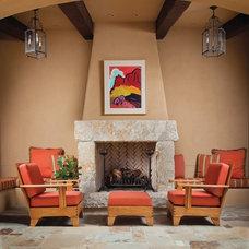 Mediterranean Patio by Wiseman & Gale Interiors