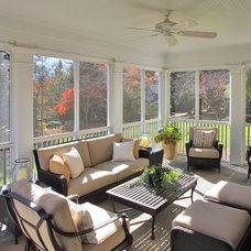Traditional Porch by Finecraft Contractors, Inc.