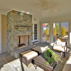Traditional Porch by Finecraft Contractors, Inc.