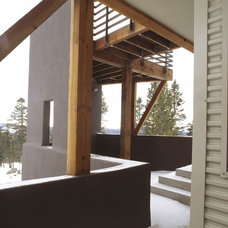 Rustic Porch by Webber + Studio, Architects