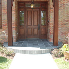 Contemporary Porch by Knapp Tile and Marble