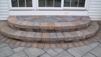 Small raised patio
