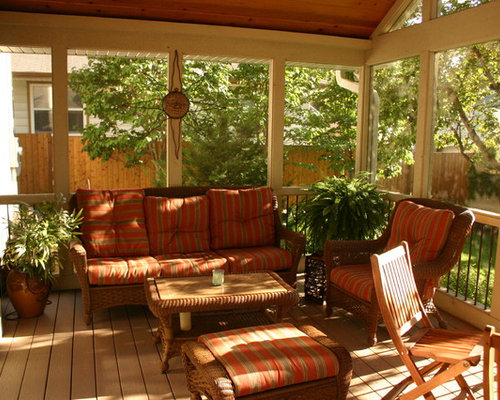 Screen porch furniture houzz - Screened porch furniture ideas ...