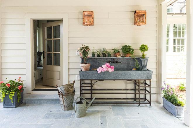 Farmhouse Porch by European Stone Concepts