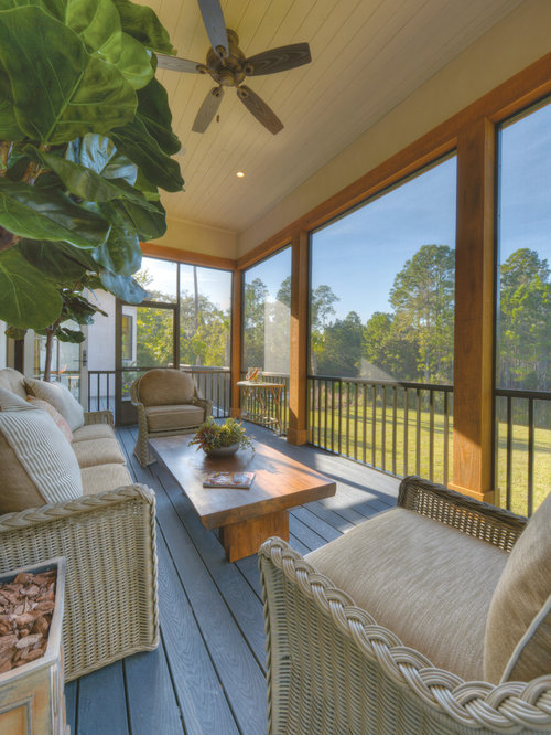 Screened Back Porch Home Design Ideas Pictures Remodel