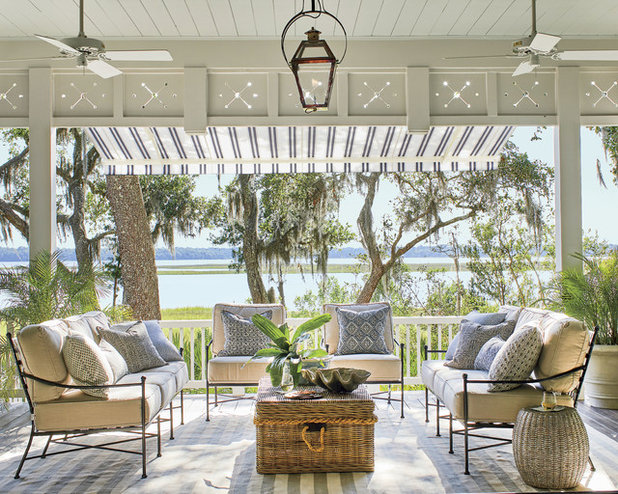 Beach Style Porch by RIVERSIDE HOMES