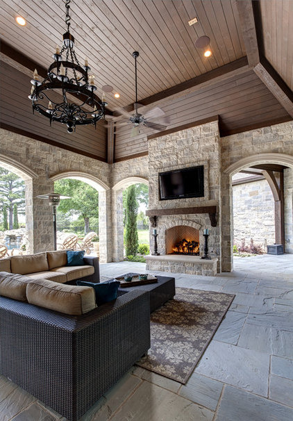 Mediterranean Patio by Simmons Estate Homes