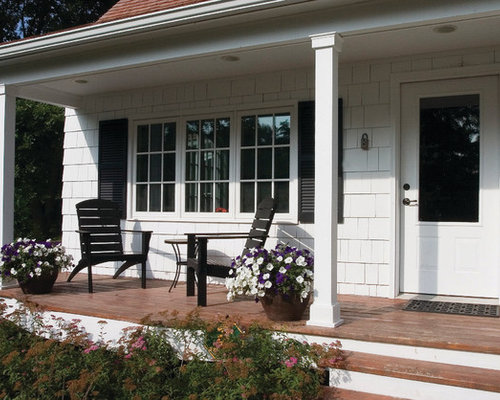 Porch post home design ideas pictures remodel and decor for Traditional porch