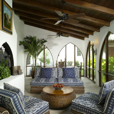 Mediterranean Porch by Summerour Architects
