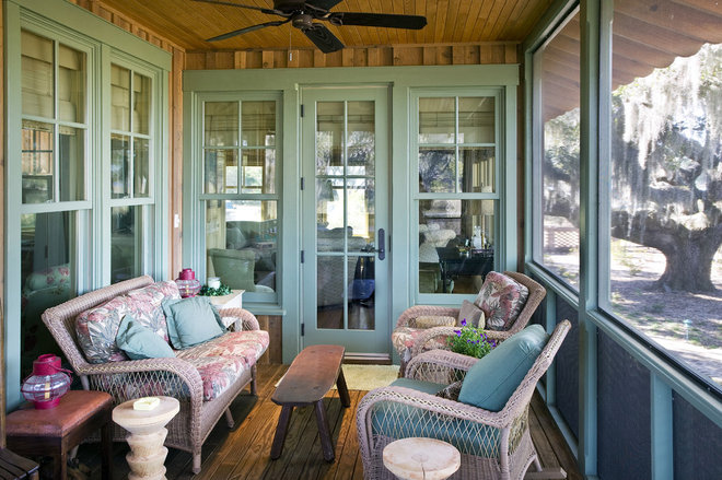 Rustic Porch by Gerald D. Cowart, AIA, LEED  AP