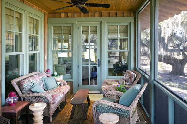 Rustic Porch by Cowart Group Architects