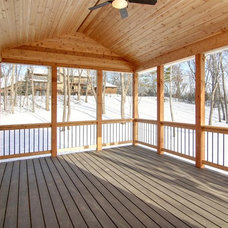 Traditional Porch by F & B Construction Inc. Co MN Custom Home Builders