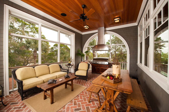 Traditional Porch by Island Architects