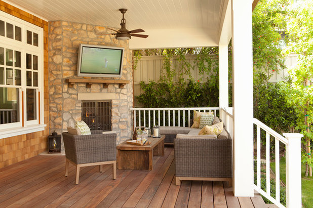 Beach Style Porch by Tim Barber Ltd Architecture