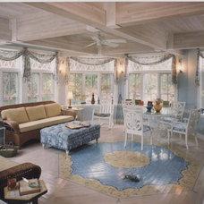 Eclectic Porch by Leslie Saul & Associates