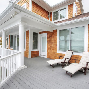 Beach style porch idea in Grand Rapids
