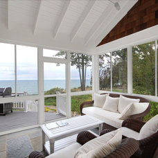 Beach Style Porch by Cottage Home, Inc.