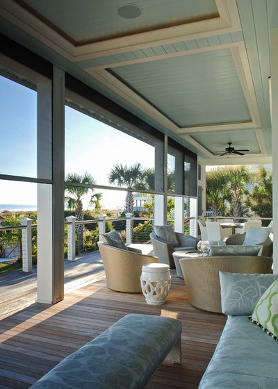 Beach Style Verandah by Phillip Smith General Contractor, LLC