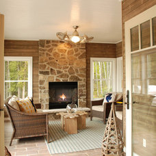 Contemporary Porch by Van's Lumber & Custom Builders, Inc.