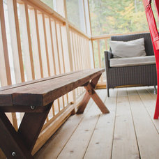 Rustic Porch by Joe Lucey Carpentry Inc.