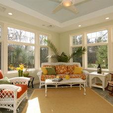 Tropical Porch by Callahan Construction
