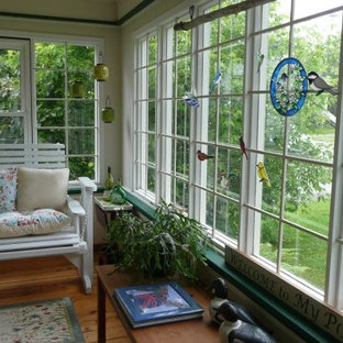 This is an example of an eclectic porch design in Other.