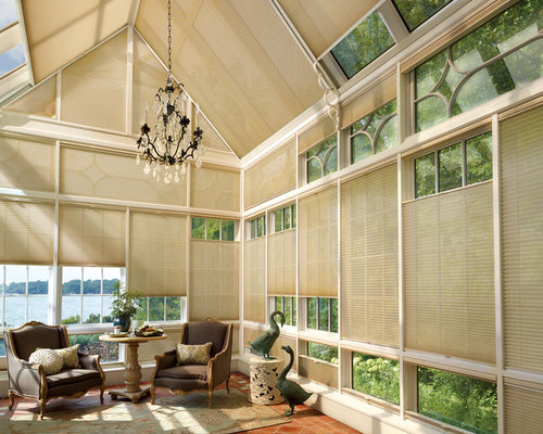 Best Sunroom Window Treatment Design Ideas & Remodel Pictures | Houzz