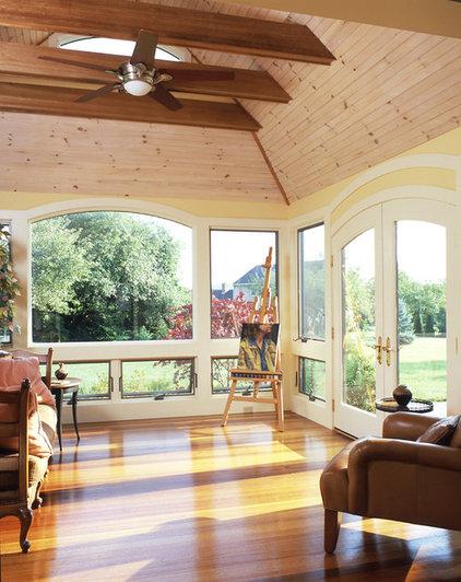 Contemporary Porch by Patricia B. Warren, AIA   Warren Architecture, LLC
