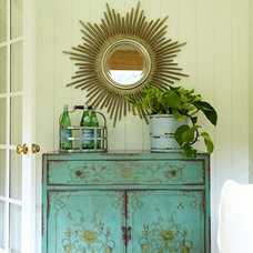 Eclectic Porch by Richmond Hill Interiors, llc