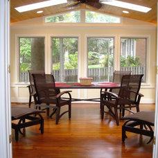 Modern Porch by Land Art Design, Inc.