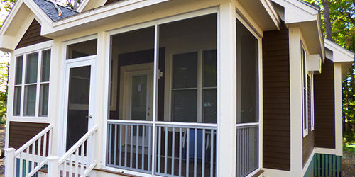 Screen Porch Ideas Designs although the lines can blur between screened deck designs and screened porch designs the best are far more than just a roof and framing surrounded with Saveemail