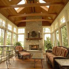 Traditional Porch by Ascent Custom Homes