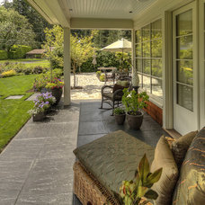 Mediterranean Porch by Paradise Restored Landscaping & Exterior Design