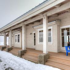 Farmhouse Porch by Dan Nelson, Designs Northwest Architects