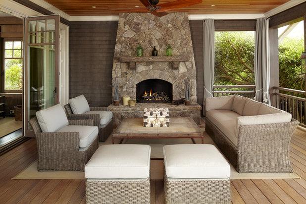 Beach Style Porch by The Anderson Studio of Architecture & Design