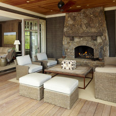 Beach Style Porch by The Anderson Studio of Architecture & Design