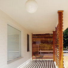 Modern Porch by The Brick House