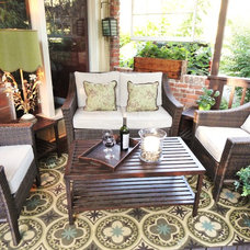 Traditional Porch by Judith Balis Interiors