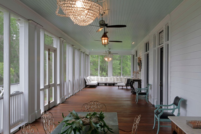 Farmhouse Porch by J.T. Turner Construction