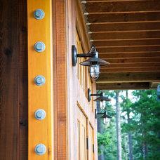 Eclectic Porch by Decatur Construction