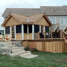 Traditional Porch by Paul Lafrance Design