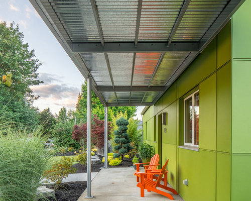 This Is An Example Of A Mid Sized Contemporary Porch Design In Seattle.