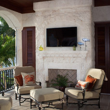 Mediterranean Porch by Perrone Construction